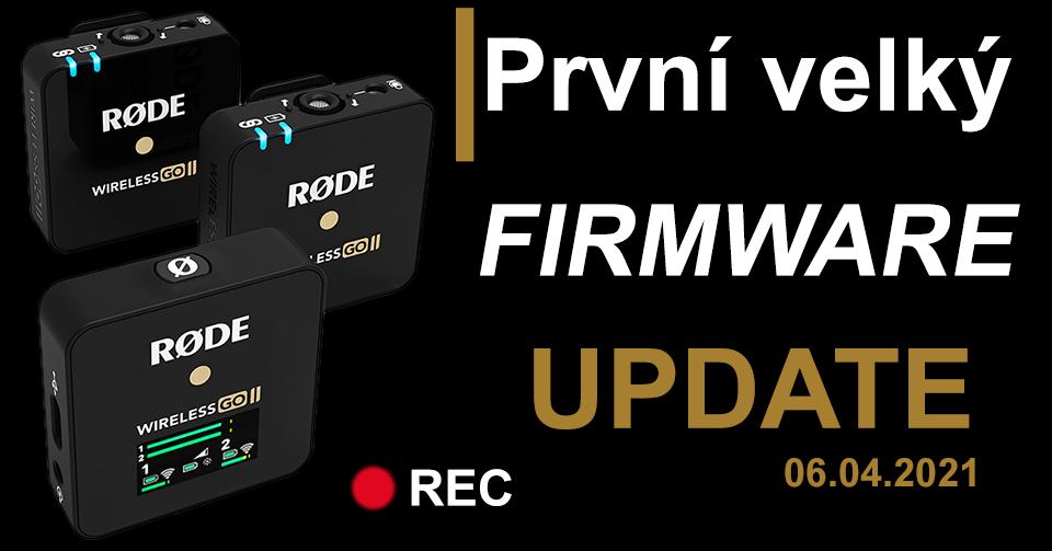 Rode wireless Go II vseprozvuk.cz firmware update